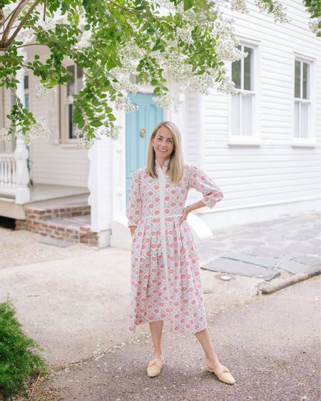 The crepe myrtle are blooming all around town… it's summer in Charleston 🌱💫🌸 I'm wearing one of my favorite British small designers, Daydress. They design the most gorgeous summer-ready garden dresses that can be worn every day of summer! Plus, my raffia slides are on major sale… the perfect summer shoe! http://liketk.it/3jamk @liketoknow.it #liketkit #LTKsalealert #LTKshoecrush #LTKstyletip