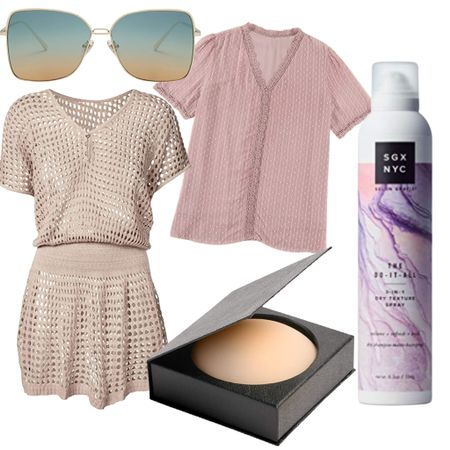 Amazon Fashion and Beauty weekly bestsellers for women over 40. Square aviators, swimsuit coverups, nippies, the best dry shampoo/texturizer/hair spray and a sweet crochet lace top.   #LTKunder50 #LTKbeauty #LTKswim