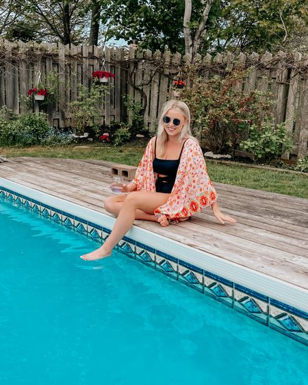 Loving this one piece! Has a cutout in the middle & can be worn strapless or with straps! I got a M. These sunglasses are my fave & 10$! http://liketk.it/3h0be #liketkit @liketoknow.it #LTKunder50 #LTKswim #LTKsalealert