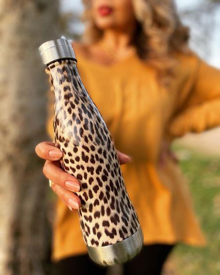I love this leopard water bottle. http://liketk.it/347tn #liketkit @liketoknow.it #LTKstyletip #LTKunder50