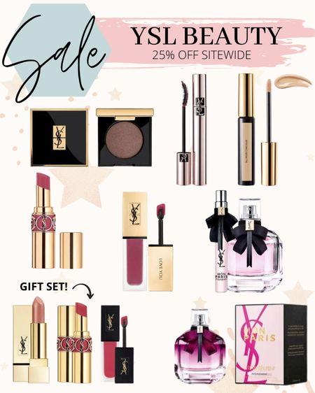 My favorites from the ysl beauty sale   #ysl #yslbeauty #makeup #lipstick #eyeshadow #giftset #perfume #fragrance #mascara #giftsforher  #LTKSale #LTKbeauty #LTKunder50