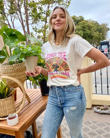 Becoming a plant lady one by one. Linked more vintage tees and fun these fun #bohodecor planters! #ltkunder100 #vintagetees #bandtees #houseplants http://liketk.it/2PKD1 #liketkit @liketoknow.it