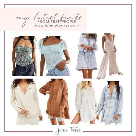 My latest finds and picks from Free People. Check out some of their best-selling and beautiful clothing pieces! | #summeroutfits #vacationoutfits #tunictop #peplumtop #summertops #summeroutfits #summerdresses #minidress #denimdress #airportoutfit #JaimieTucker  #LTKworkwear #LTKstyletip #LTKtravel