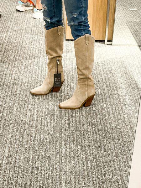NSale Western boots Boot Nordstrom  Under $200 Beige suede  Tall boots   #LTKSeasonal #LTKsalealert #LTKshoecrush