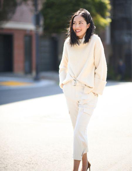 This cozy sweater is one of my favorite fall purchases so far! Wearing XS.   #LTKstyletip #LTKworkwear #LTKSeasonal