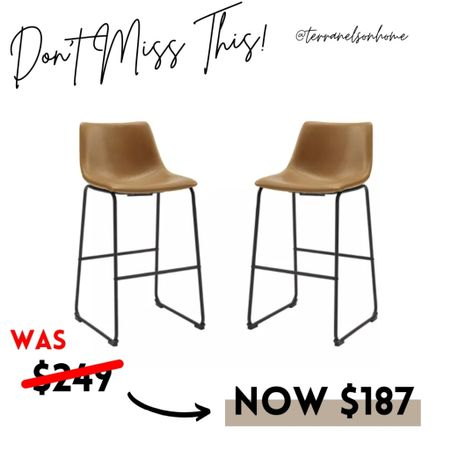 The best dupes for my west elm leather barstools are from target they are a set of two for less than one of mine what a great deal  #LTKhome #LTKsalealert