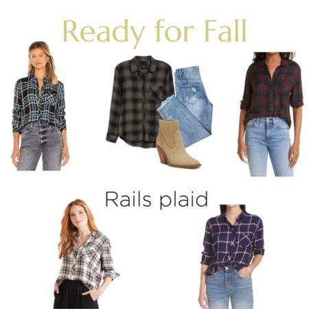 Fall plaids, denim and boots.     Rails plaid, Nordstrom, Marc fisher, Vince camuto, fall fashion, fall outfit ideas, plaid shirts      #LTKSeasonal