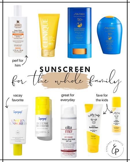 Having good quality sunscreen is SO important. Finding the right sunscreen for you and your family can definitely be tough though. I rounded up some of my faves for everyone in the family! Whether it is for everyday or vacay - I've got you covered. #liketkit http://liketk.it/3fh37 @liketoknow.it #LTKbeauty #LTKtravel