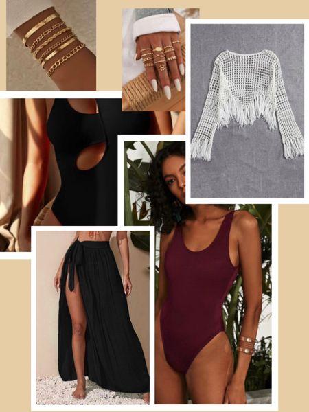 Shein summer haul Swimsuits and cover ups and boho jewelry http://liketk.it/3e6Q2 #liketkit @liketoknow.it