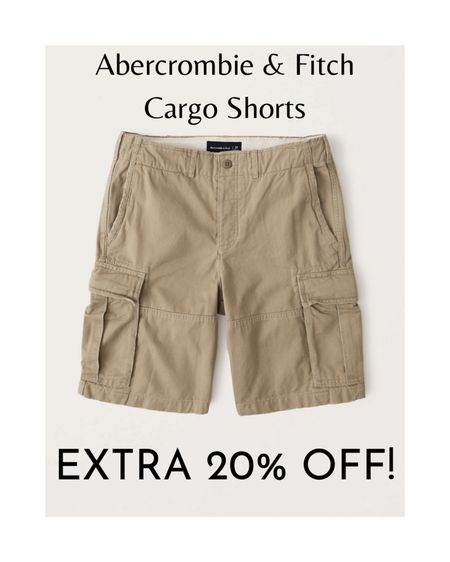Abercrombie & Fitch's classic cargo shorts are made of twill fabric and include a button fly and interior drawcords. The cargo pockets are perfect for when your dad has to carry all the essentials like his phone, wallet, and keys. He can wear these cargo shorts when he's out and about during the summertime.  The cargo shorts are available in green camo, khaki, dark grey, and olive green.  Originally $59, you get an extra 20% off online!  #LTKmens #LTKsalealert #LTKunder50