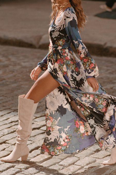 Floral boho fall dress   #LTKtravel #LTKSeasonal #LTKwedding