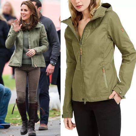 Kate wearing Fjallraven Stina jacket #coat #rain #hiking #macys #target #boots #outfit     #LTKstyletip