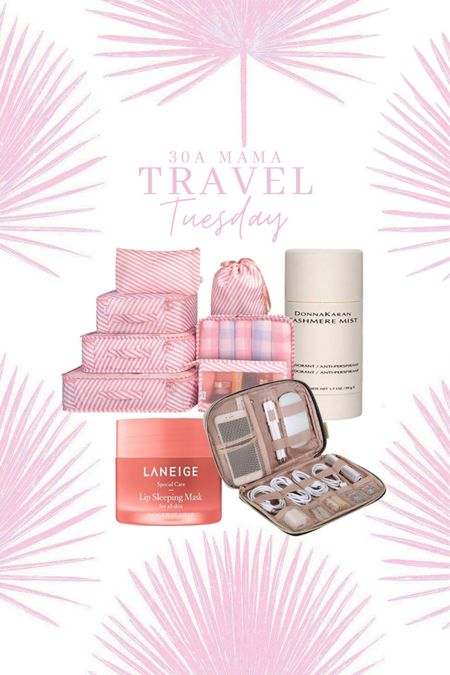30A Mama Travel Tuesday: Pack these on your next trip! Packing cubes Cashmere mist deodorant  Laneige lip mask for dry lips  Cord keeper for phone accessories   #LTKtravel #LTKunder50 #LTKfamily