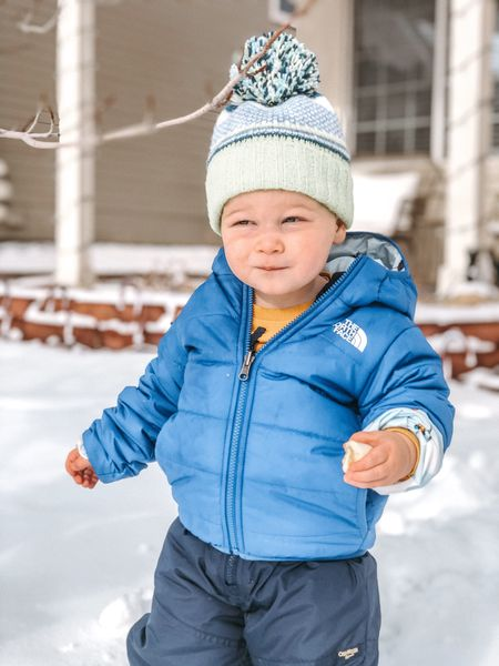 His Oshkosh snow suit is on sale right now! His reversible North Face is so cute and comes in a few different color options.   #LTKkids #LTKunder50 #LTKsalealert