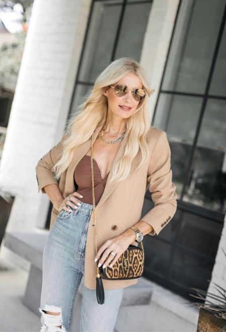 SALE ALERT! My chic camel blazer and heels are on sale today making them a crazy good deal! The blazer runs tts I'm wearing an Xs.   #LTKunder50 #LTKstyletip #LTKsalealert