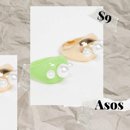Chunky rings #trends #chunkyrings #acrylicrings  #LTKSeasonal #LTKunder50 #LTKunder100
