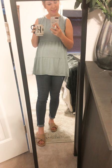 Friday Costco Run outfit!  This tiered ruffle top from Amazon is my new favorite! And H&M maternity jeans are my new favorite. Wearing size Medium!   http://liketk.it/3dGI6 #liketkit @liketoknow.it #LTKbaby #LTKstyletip #LTKunder50 Follow me on the LIKEtoKNOW.it shopping app to get the product details for this look and others