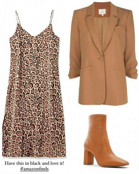 Amazon Dress, Fall Blazers, Fall Outfits, #LTKstyletip #LTKSeasonal   http://liketk.it/3oeNL @liketoknow.it #liketkit