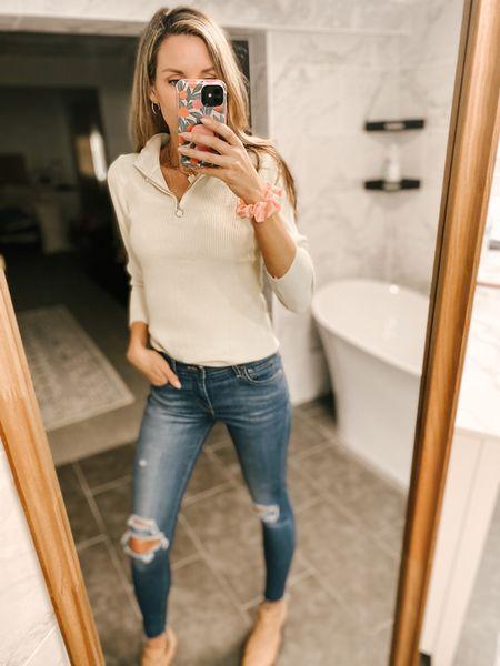 Long Sleeve Mock Knit Pullover Tops Color: Apricot/TTS/wearing a size, S  #ifounditonamazon #amazonfashion #amazonfinds #outfitoftheday #ootd #outfitideas #outfitinspo #amazonsweater #amazonfallfashion #amazonwinterfashion   http://liketk.it/3pOmn @liketoknow.it #liketkit #LTKbeauty #LTKcurves #LTKfit #LTKSeasonal #LTKstyletip
