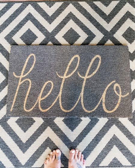 Loving our new front door mat...it's the little things 🤗 #blondeepisodes #frontdoor #homedecor #hello #LTKunder50 #LTKhome #LTKsalealert http://liketk.it/2Ph0O #liketkit @liketoknow.it @liketoknow.it.home You can instantly shop my looks by following me on the LIKEtoKNOW.it shopping app