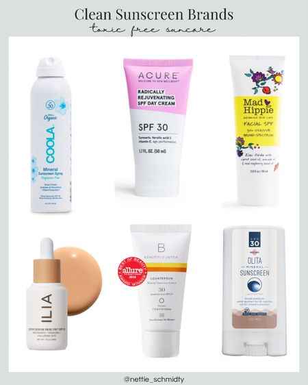 My favorite clean sunscreen brands for chemical-free and toxin-free sunblock and sun care. These are better for your family, your skin and the environment including cruelty-free, fragrance-free clean beauty options for tinted sunscreen and mineral sunblock. 🤍😎 It's basically summer time, don't neglect your SPF! .  Download the LIKEtoKNOW.it shopping app to shop this pic via screenshot http://liketk.it/3hOC8  .  #liketkit @liketoknow.it #LTKbeauty #LTKfamily #LTKswim @liketoknow.it.family