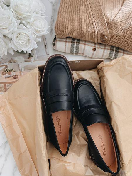 Madewell lug sole loafers. Got the 5, run TTS. On sale!   #LTKsalealert #LTKshoecrush