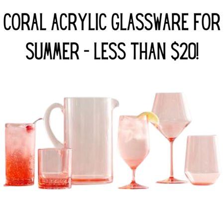 Coral acrylic glassware still on sale! http://liketk.it/3f8Lx #liketkit @liketoknow.it #LTKhome #LTKsalealert
