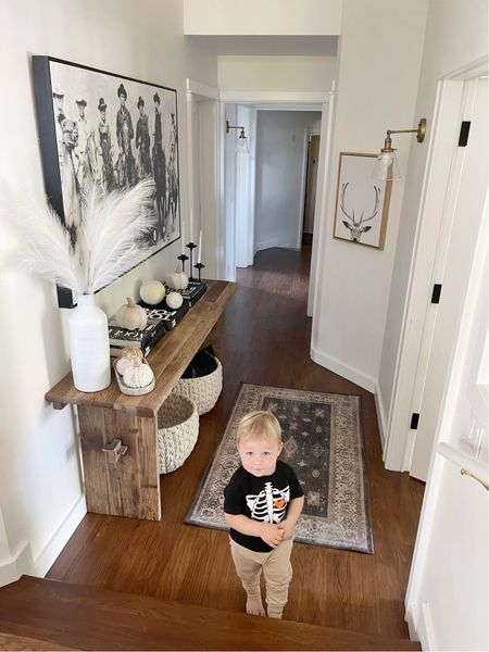 H O M E \ The cutest photo bomber around! The face Ford's giving me… AND in that shirt💀 looking a little mischievous😜😜 hehe Wonder what he's going to destroy next?? #toddlerlife  Rounding up CONSOLE TABLES on today's funds including my rustic beauty! Swipe right to see al of them - 5 under $400 AND 5 splurge-worthy options👏🏻👏🏻 Time to give your entry a little refresh! Sharing then on stories today OR head over to LTK to shop🙋🏻♀️ Click the link in my bio!  #consoletable #halloween #fall #falldecor #pumpkins #kidshalloween #homedecor   #LTKhome #LTKSeasonal #LTKkids