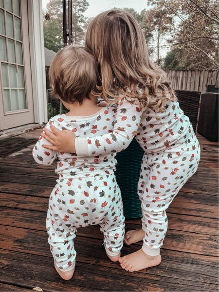 Fall together like leaves of a tree.  In love with these matching autumn leaves pjs. They run a little tight so I sized up for both of them.    #LTKbaby #LTKSeasonal #LTKkids