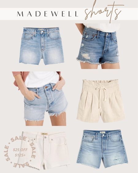 Madewell shorts on sale in app only this weekend!   #LTKDay #LTKunder50 #LTKunder100