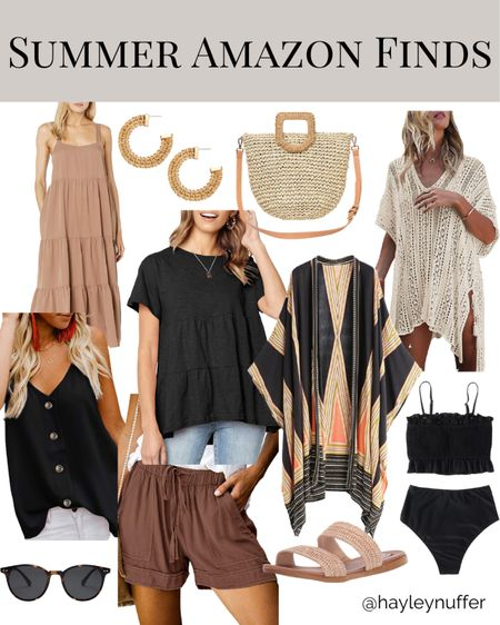"""Have you shopped at Amazon for clothing?  It can be a little hit or miss depending on what the item is but I've found some really cute stuff there for summer! I've been living in the black tiered ruffle t shirt!  Some tips:  *Read reviews!! People often share photos so you can see what the item actually looks like and find someone with a similar body type *Shop for 4 star and up items, this will help weed out some of the items that aren't worth bothering with. *Be willing to try it on and return if it isn't right! Most Amazon orders offer free returns with prime, and its super easy to drop it off at a UPS store! *Look for """"add coupon"""" button! Sometimes there will be an option to add a coupon on certain items before adding to your cart so check first for some extra savings.   What other tips have you found for shopping on Amazon?  Items linked on like to know it app, link in bio! Or message me for a specific link.   http://liketk.it/3dw3x #liketkit @liketoknow.it #LTKunder50 #LTKswim #LTKstyletip"""