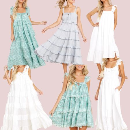 These dresses, especially the gingham with scallops: oh my gosh! 💗