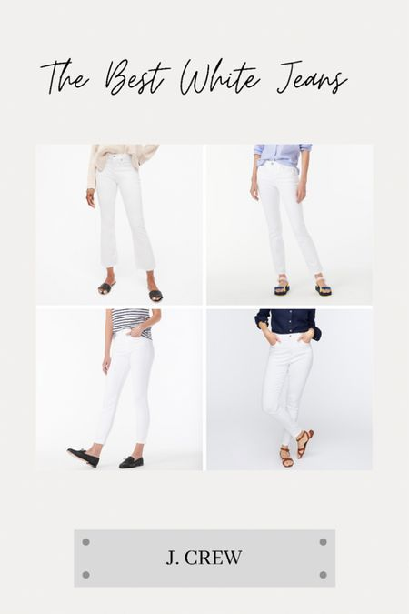 The best white Jeans from J. Crew! http://liketk.it/3iqtR @liketoknow.it    #liketkit #LTKstyletip #LTKtravel #LTKunder100