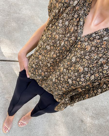 Two favorites from the Nordstrom Sale by brands that never go on sale, especially new.   Blouse is Nili Lotan and has the prettiest moody fall floral print. Fits oversized.  Pleated navy pants are Vince—they're marked as cropped but hit ankle length on me. Size up if between sizes!  #nsaleworkwear #nordstromanniversarysaleoutfits #fallworkoutfit #fallworkwear nsale outfits, nsale top, fall workwear, fall work outfits, nordstrom anniversary sale outfits, fall outfits