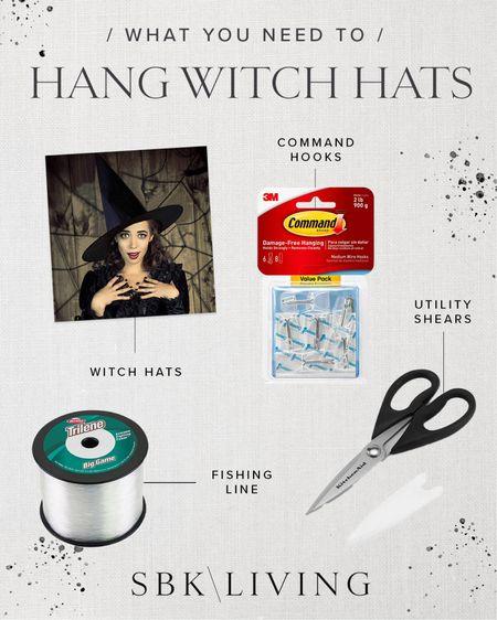 H A L L O W E E N \ what you need to hang witch hats!🧙🏻♀️🧙🏻♀️🧙🏻♀️  #halloween #halloweendecor #fall #halloweenporch #witchhats  #LTKSeasonal #LTKHoliday #LTKunder50
