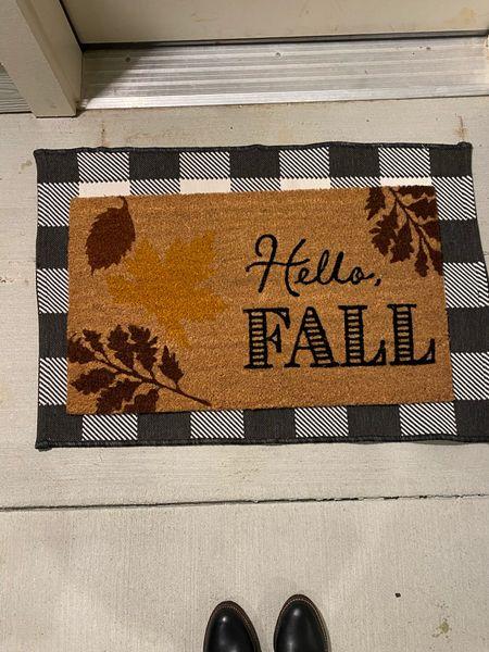 Fall home decor Fall floor mats Target Accent rug   #LTKSeasonal #LTKHoliday #LTKhome