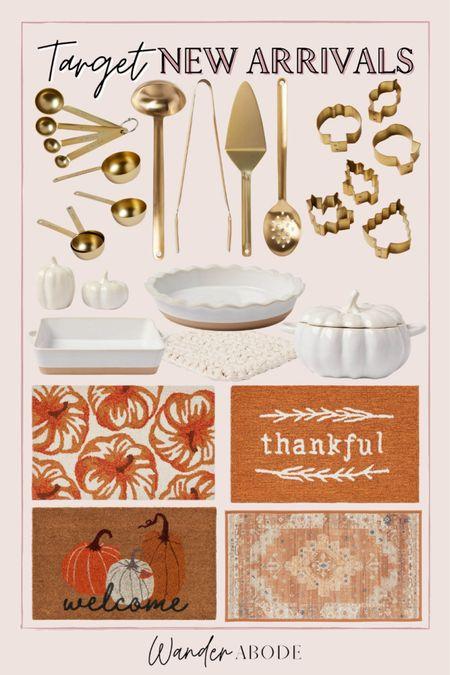 New fall rugs & hosting essentials for the kitchen, gold utensils, fall decor  #LTKSeasonal #LTKunder50 #LTKhome