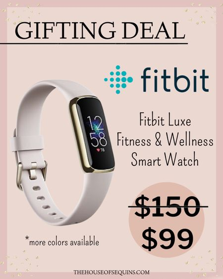 Tech Gifts for Her. Fitbit watch Fitness gifts.   Follow my shop @thehouseofsequins on the @shop.LTK app to shop this post and get my exclusive app-only content!  #liketkit #LTKGiftGuide #LTKfit #LTKunder100 @shop.ltk http://liketk.it/3pWpy  #LTKGiftGuide
