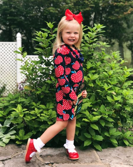 I'm so proud of this little girl. She's grown so much this summer in so many ways & it was evident today as she started her second year of preschool! 🌻🍎✏️📚 PS: How stinkin' cute is her apple dress!? 🍏 🍎 Get the details on her outfit by clicking the link in my bio or by following me on the @liketoknow.it app! http://liketk.it/2xdSn #liketkit   @liketoknow.it.family #LTKkids #LTKfamily