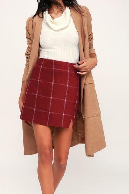Plaid mini skirt   #LTKSeasonal #LTKworkwear #LTKHoliday