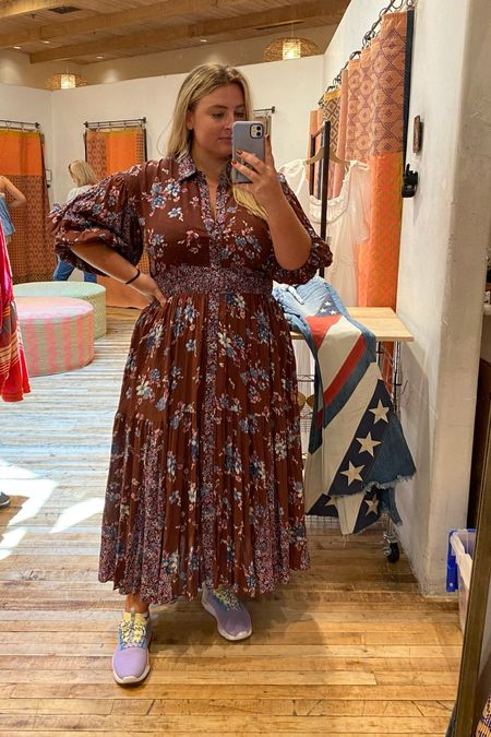 Cannot get over this brown maxi dress for fall! Could be fun to wear for an outdoor wedding guest dress or date night outfit? I'm a 14/16 and in medium + it's on sale for $100 norm $160   #LTKcurves #LTKunder100 #LTKsalealert