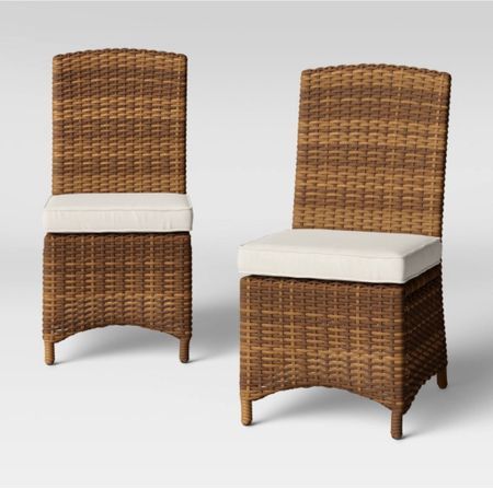 Found these DUPE patio dining chairs! Pottery Barn has similar and they are double the cost!    #LTKhome
