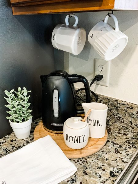 I have a coffee bar and a hot tea station. I think I have a problem with caffeine and hot beverages.    Shop my daily looks by following me on the LIKEtoKNOW.it shopping app   @liketoknow.it @liketoknow.it.home #liketkit #LTKunder50 #LTKstyletip #LTKhome http://liketk.it/3gYol