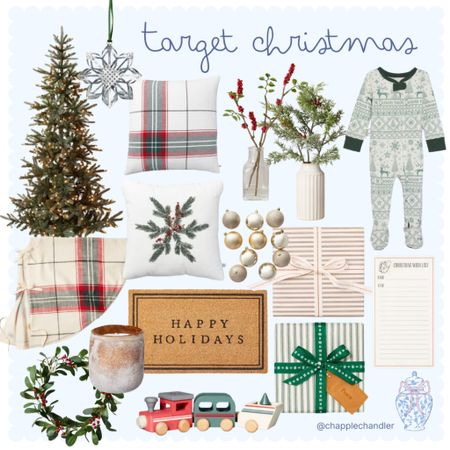 Target Christmas Decor Holiday home decor garland Christmas tree decorations ornaments matching pjs pajamas kids baby toddler stems faux wrapping paper Hanukkah Xmas throw pillows cozy home decor plaid matching family pjs doormat candle accents living room tree skirt wreath train   #LTKGiftGuide #LTKHoliday #LTKhome