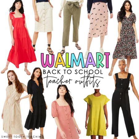 Teacher outfits Fall dresses Teacher inspo Teacher fashion Back to school  Mom outfits Dresses Walmart finds Walmart fashion   #LTKstyletip #LTKunder50