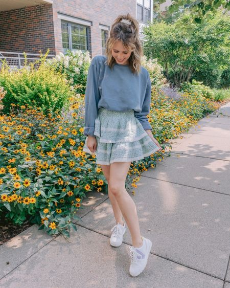HONEST OPINION am I too lame for this outfit? I felt so cute but I felt like I was posing as Gen Z, which I AM. Also @aerie pls bring out these skirts in more colors thank yoooou! . . .   #LTKsalealert #LTKbacktoschool #LTKunder50