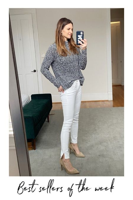 Neutral style, amazon sweater, amazon style, amazon finds, spring looks, white jeans on sale, express sale http://liketk.it/39ugE #liketkit @liketoknow.it #LTKSeasonal #LTKsalealert #LTKunder100