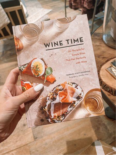 Kitchen book - wine time 🍷 Anthropologie find   #LTKfamily #LTKhome #LTKunder50