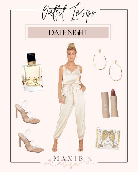 Sleek Date Night Look From Red Dress Boutique 🥂  #datenightoutfits #datenight #datenightlook #reddressboutique #jumpsuit #satinjumpsuit #summeroutfits #summerfashion #yslperfume #chicoutfit  #LTKSeasonal #LTKunder100 #LTKstyletip