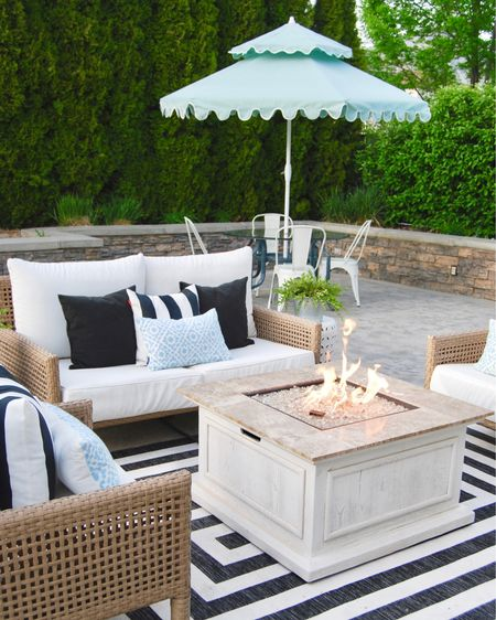 First Day of Summer and I couldn't be more excited! The outdoor area is set up and I've stocked up on s'more ingredients! 🍫  igrew always loved outdoor areas and spending as much time as I can soaking up the summer nights. I've collected outdoor furniture and pillows over years. But I've done a round up for those of you wanting an affordable but welcoming outdoor space. Just download the Like to Know it app and link away!  ....Screen Shot picture to shop.....  . . .  @liketoknow.it.family @liketoknow.it.home   #liketkit @liketoknow.it http://liketk.it/2P7eQ
